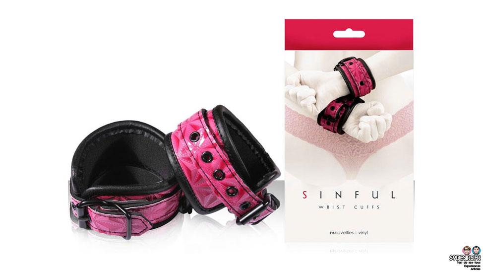 Menottes : Sinful Wrist Cuffs de NS Novelties