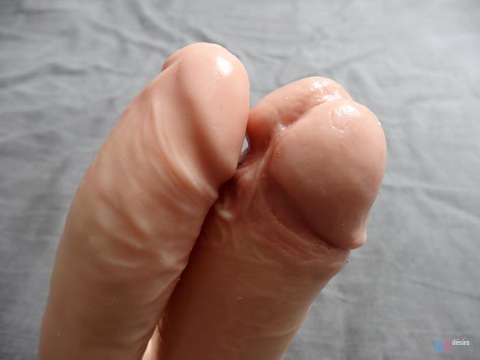 gode-ceinture double pénétration creux 17 cm de Réel
