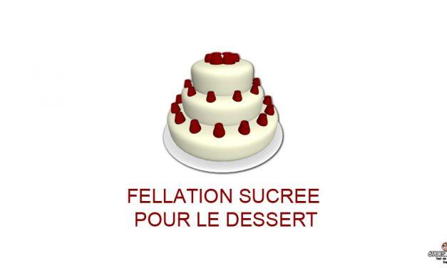 Une fellation sucrée pour le dessert