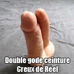 Gode Ceinture double pénétration creux de Réel