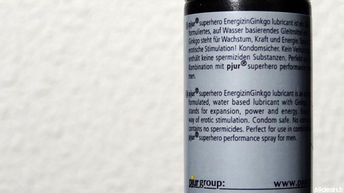 lubrifiant pjur superhero Energizing Ginkgo
