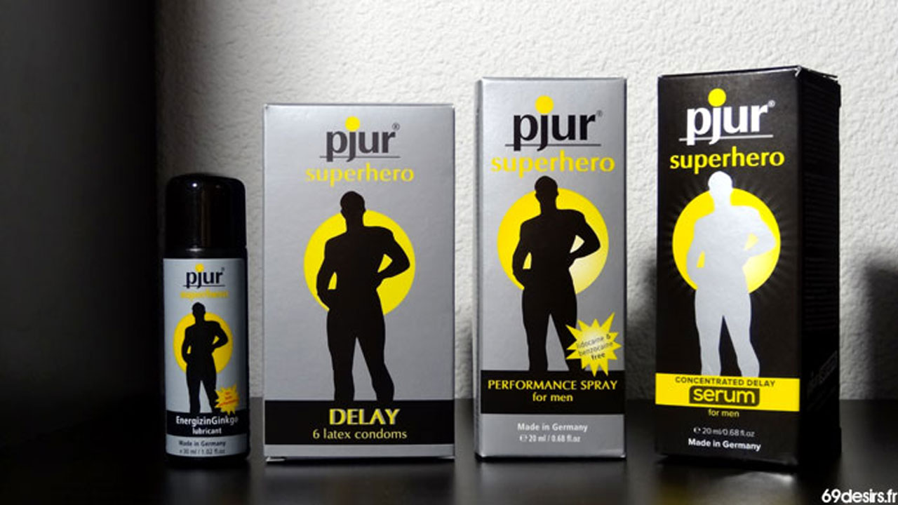 Test du sérum Pjur Superhero concentrated delay