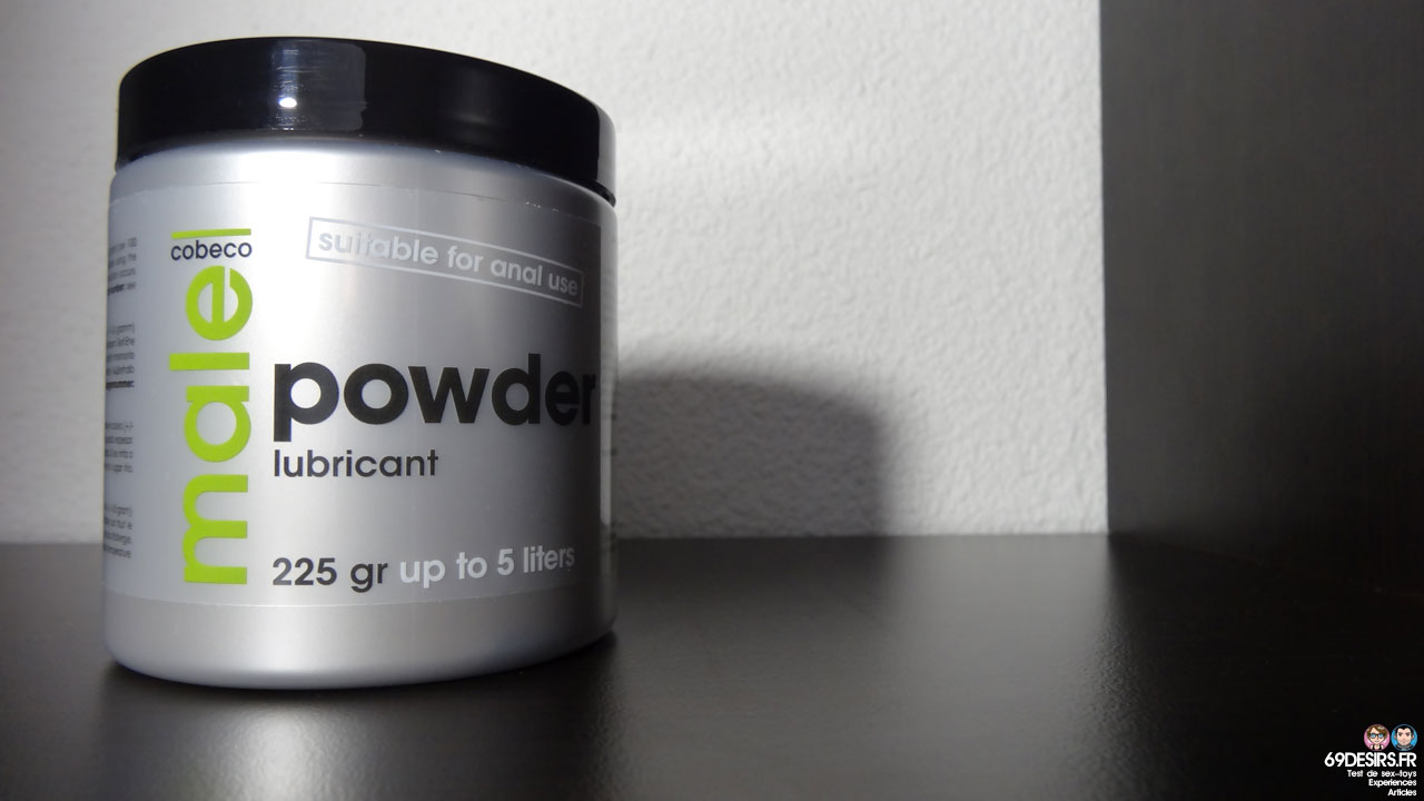 Test du lubrifiant Cobeco Male Powder