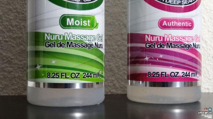 gel de massage Nuru Authentic et Moist