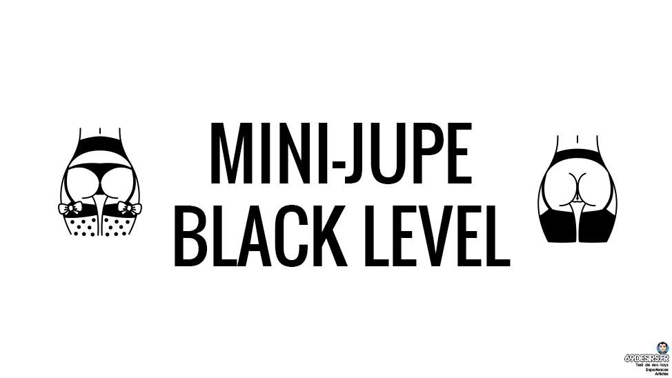 Avis sur la Mini jupe vinyle Black Level