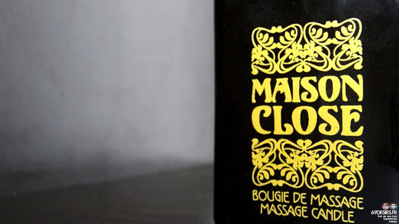 Test de la bougie de massage Maison Close Ambre