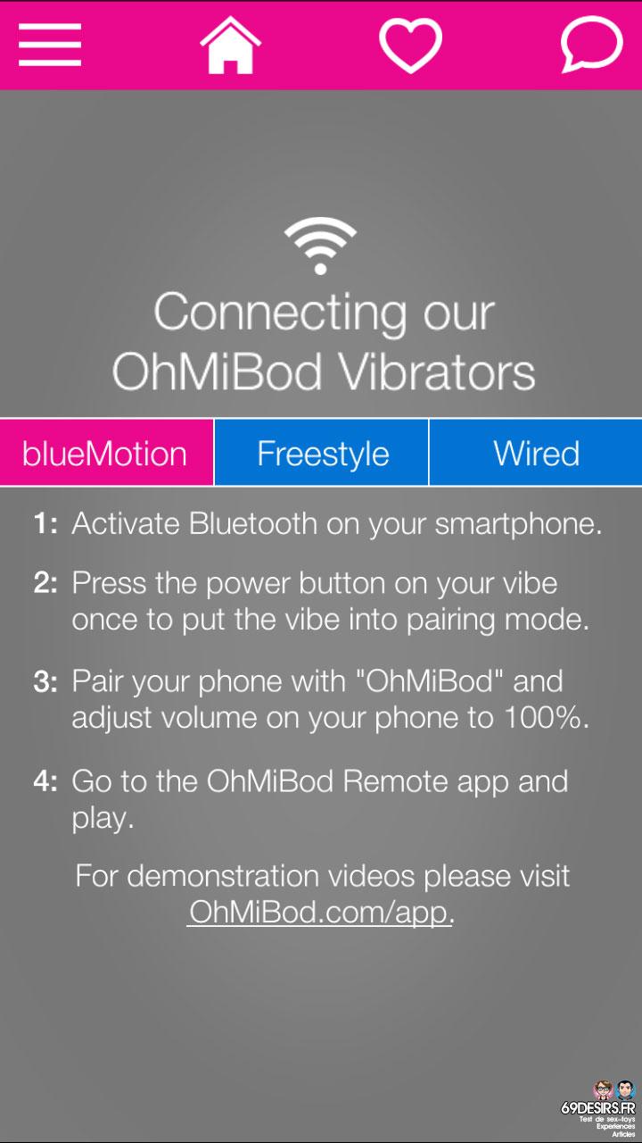 Ohmibod Bluemotion - Application #12