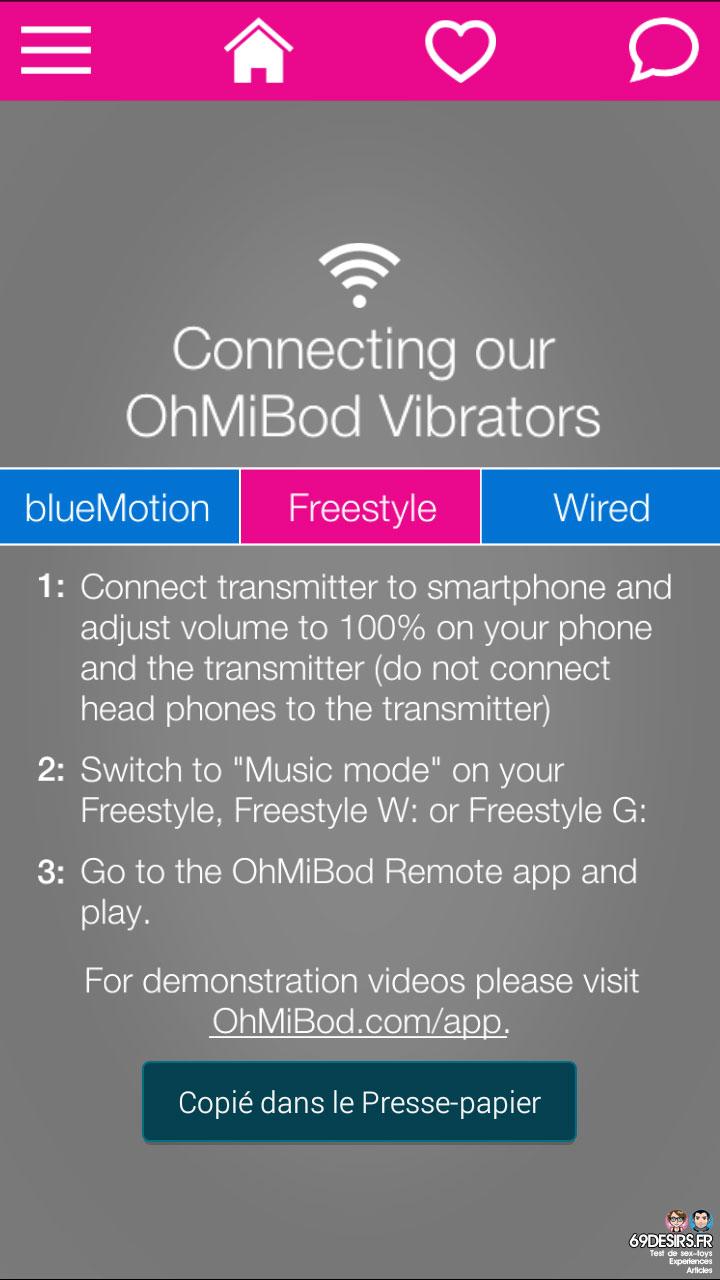 Ohmibod Bluemotion - Application #13