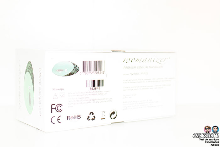Womanizer pro w500 : Packaging