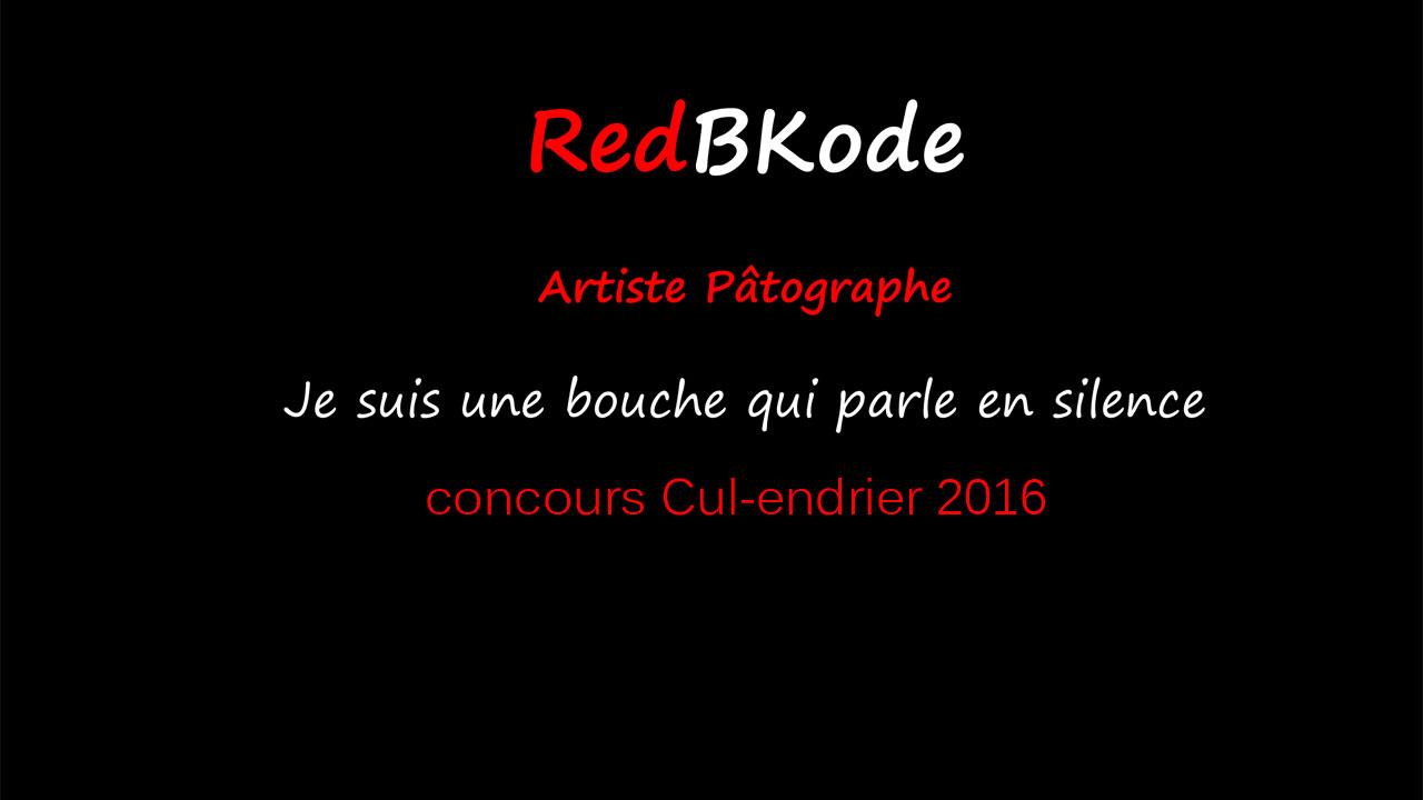 Concours Cul-endrier 2016 RedBKode
