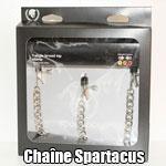 Chaîne Spartacus avec pinces à seins et clitoris
