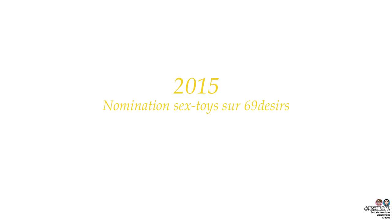 Nomination sex-toys 2015 sur 69desirs