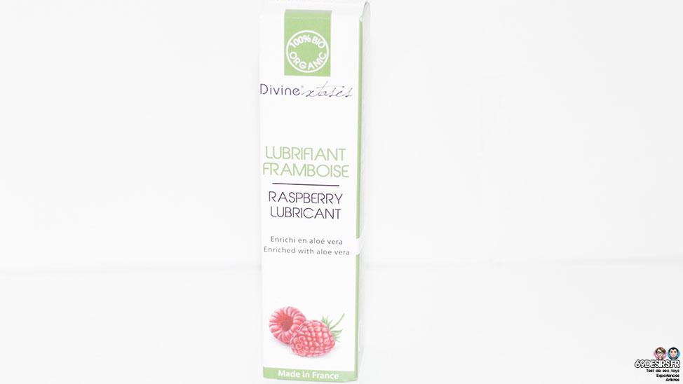 Test lubrifiant framboise Divinextases comestible