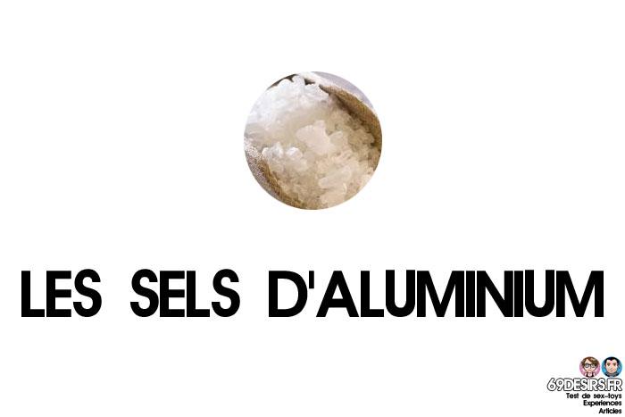 lubrifiants intimes et les sels d'aluminium