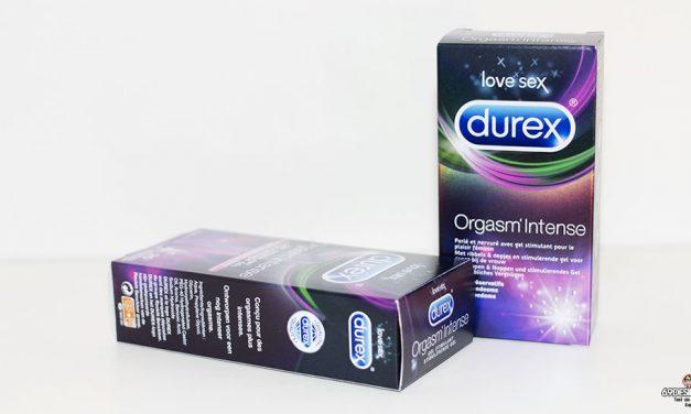 Test Durex Orgasm Intense : Préservatifs et gel orgasmique
