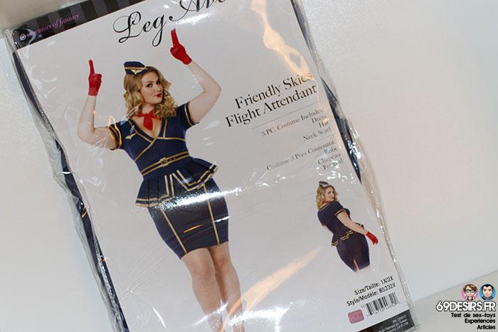 costume hôtesse de l'air leg avenue - 3
