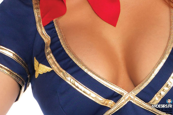 costume hôtesse de l'air leg avenue - 6