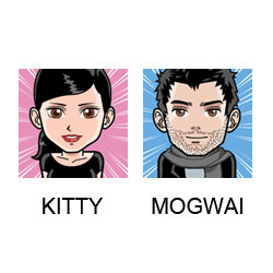 Contacter Kitty et Mogwai