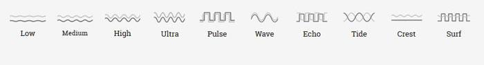 we-vibe match - pattern de vibrations