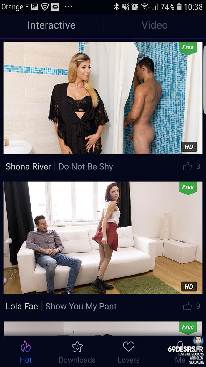senselovers - mode interactif et vidéos