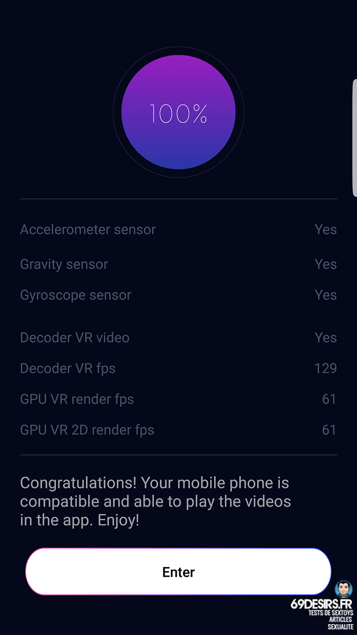 Le test du smartphone pour l'application