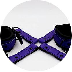 accessoires bdsm - kit attache poignets et chevilles pop