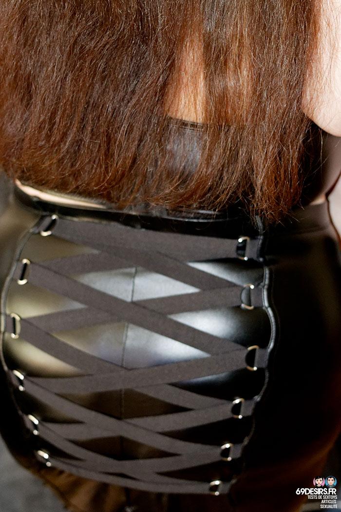 jupe simili cuir Fierce - 11